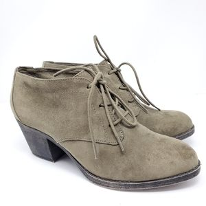 Rocket Dog heeled taupe suede Booties Size 9 EUC